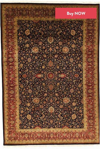 Black and Red Pak Persian Rug Design