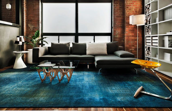 area rug ; overdyed persian rugs : overdyed rugs : color reform concept