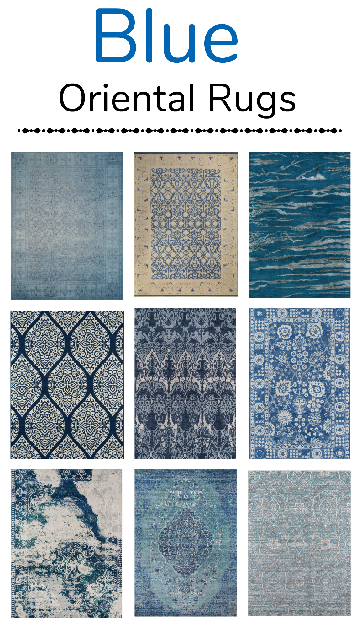 How to save money on blue oriental rugs