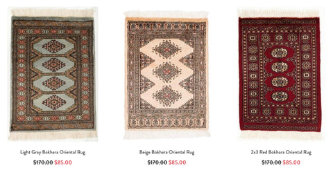 Click here to shop our Bokhara Oriental Rugs!