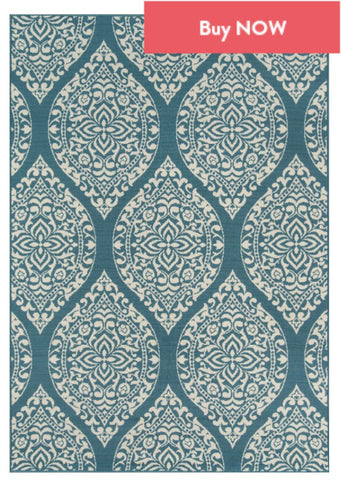 Buy this blue trellis rug today
