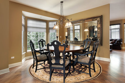 Place A Round Area Rug To Draw People The Table Rugs Look Stunning Under Tables