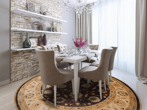 I Am A Huge Fan Of Round Area Rugs In Dining Rooms. The Circle Stands For  Unity And Creates An Intimate Space For Chatting And Sharing Stories.