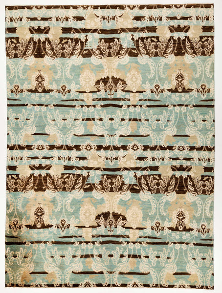 silk rugs : blue and brown rug : bamboo area rug