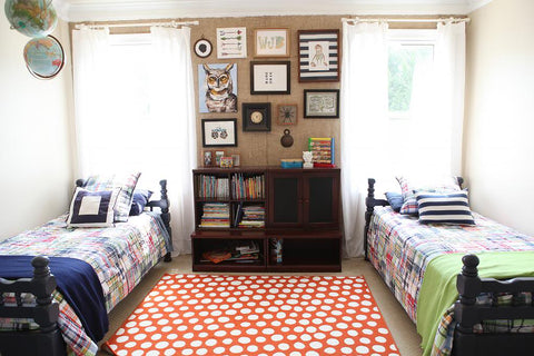 Rectangular rug in kids room