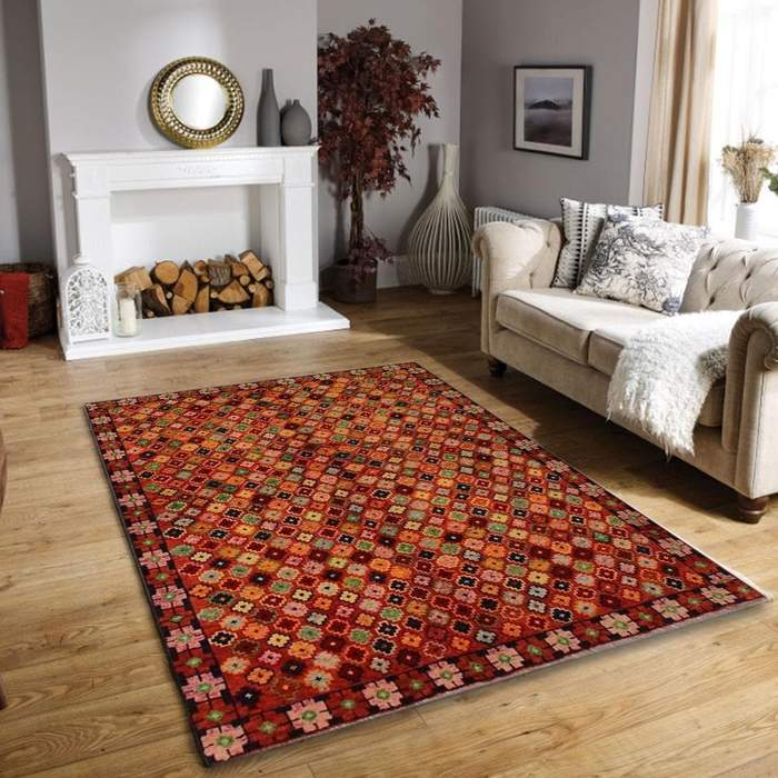 Multi Color Baluchi Area Rug