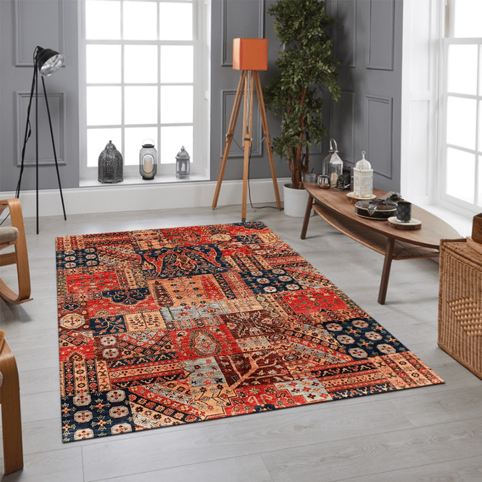 Multi Color Oushak Area Rug