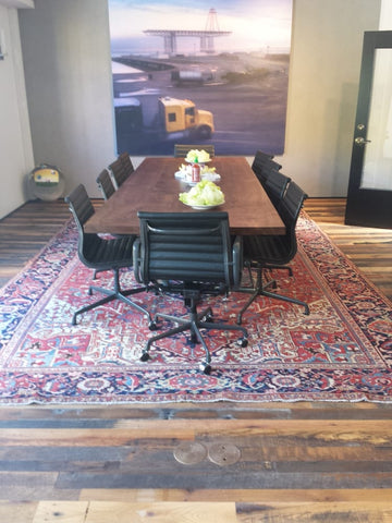 Oriental rug in a conference room