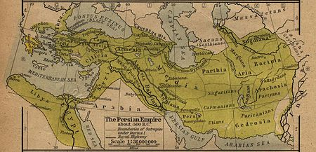 Historic map of Persia