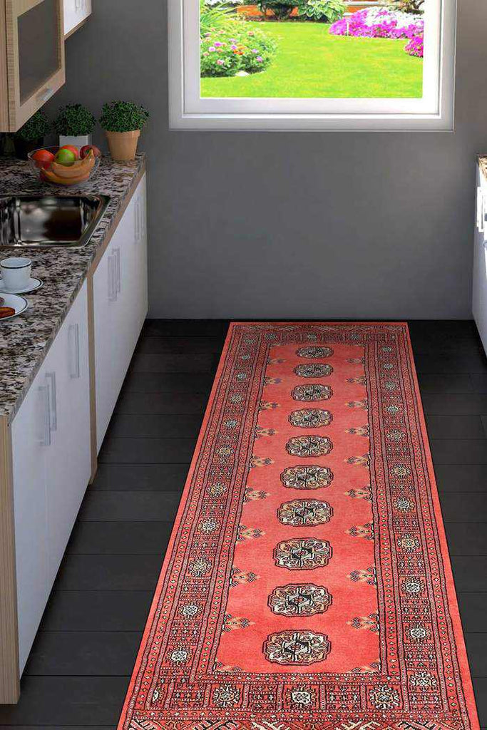 Red Bokhara Area Rug