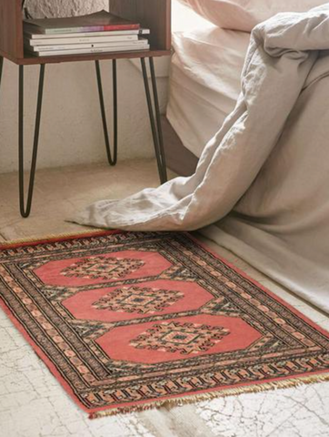You Donu0027t Even Have To Place The Rug Under Any Furniture At All. A 2x3  Bokhara Rug Is Perfect Right Next To The Bed. It Makes A Warm Place For  Your Feet ...