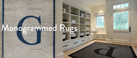 Monogrammed Rugs In Entryways and Mudrooms