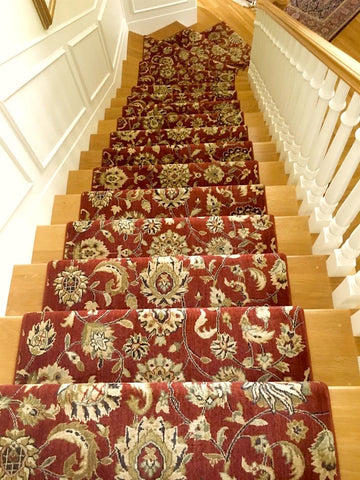 Runner rugs on staircase