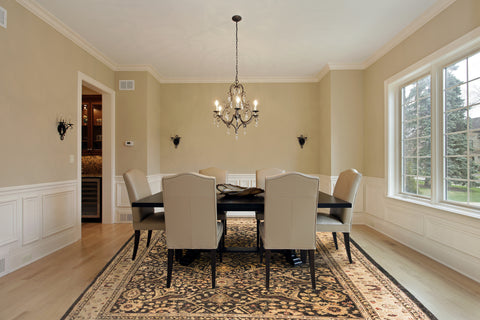 I Just Love This Traditional Oriental Rug! And I Love How They Put The Table  At The End Of The Rug Instead Of Matching The Length Of The Table To The  Length ...
