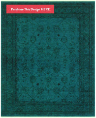 Teal Overdyed Rug from Rugknots