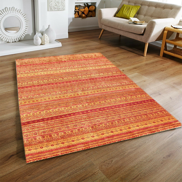Gold Gabbeh Area Rug