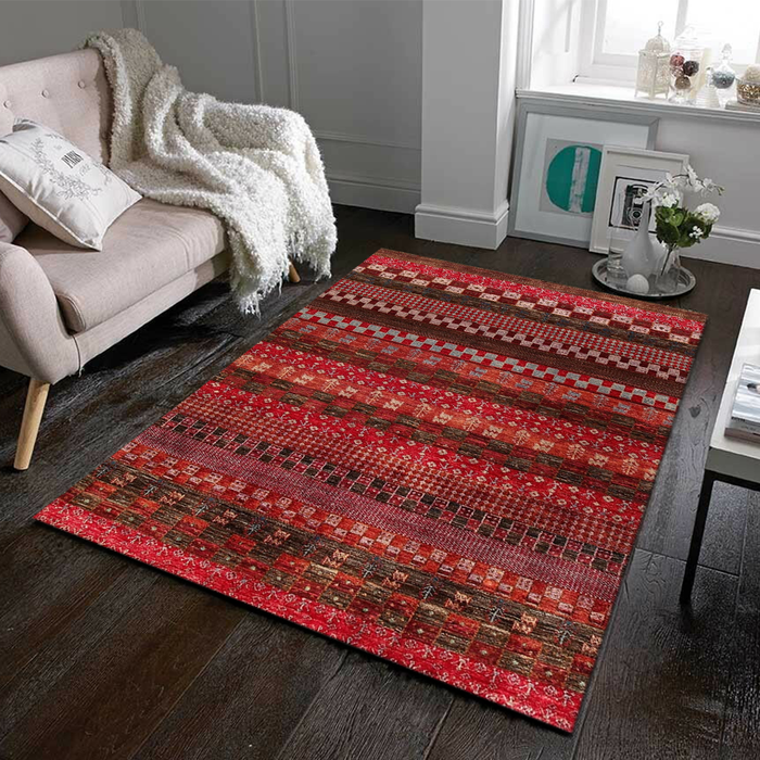 Brown Gabbeh Area Rug