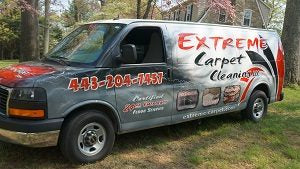 Extreme Carpet Cleaning van