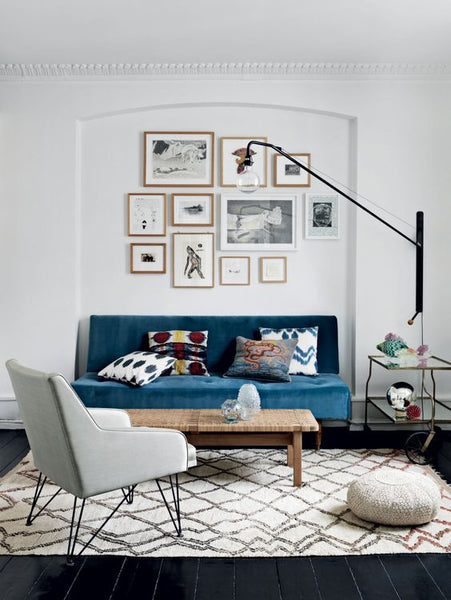 Living room mid century modern scandinavian apartment interior design nordic home