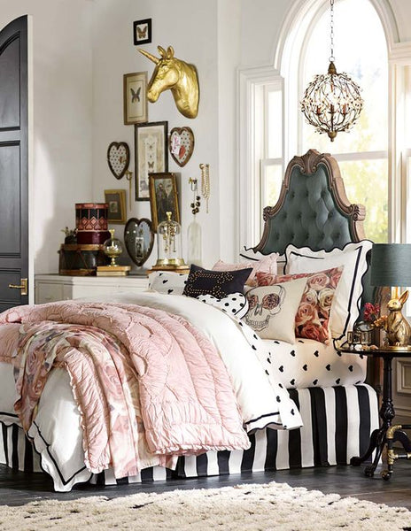 Make over your bedroom with vintage American style from fashion designers Emily Current & Meritt Elliott.: