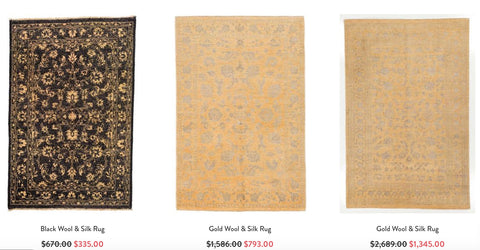 Three rugs from RugKnots.com