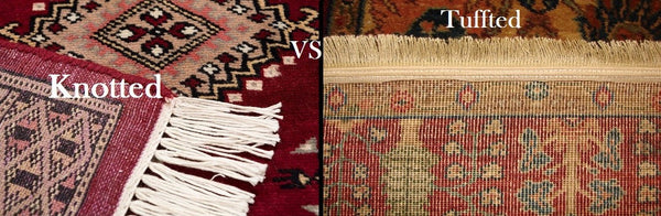 rug companies knotted versus tufted rugs