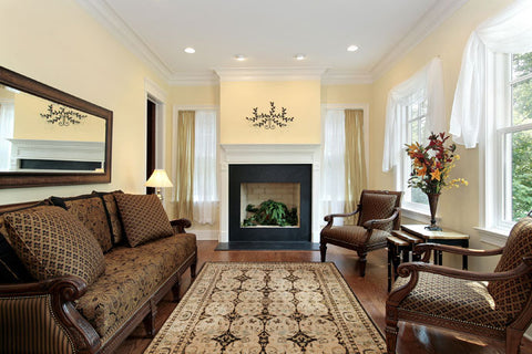 If The Furniture In Your Room Is Upholstered In A Vivid Pattern, Choose A  Muted Or Solid Colored Rug To Coordinate With The Room. For A Sophisticated  Look, ...