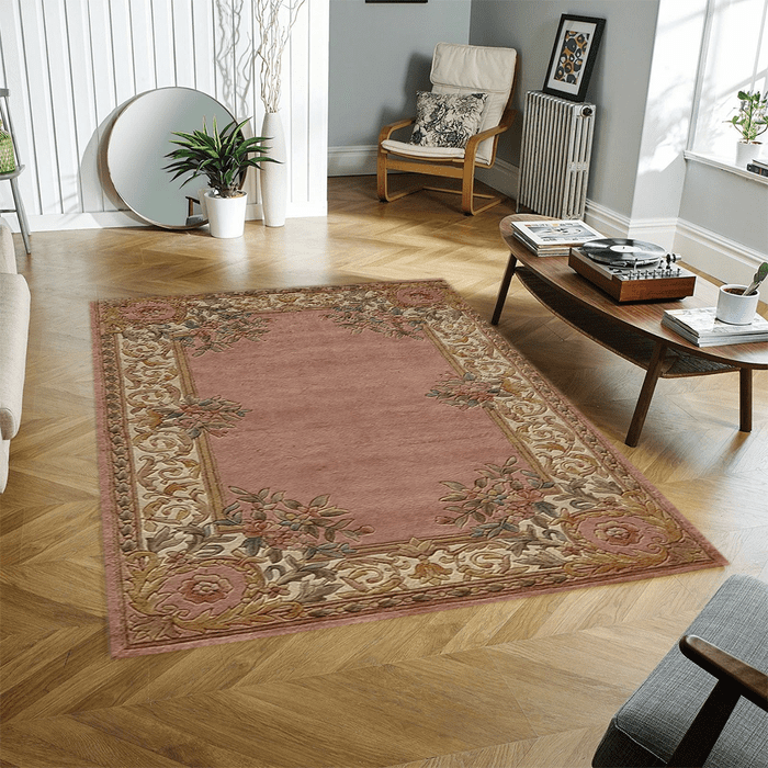 Rose/Ivory Persian Area Rug