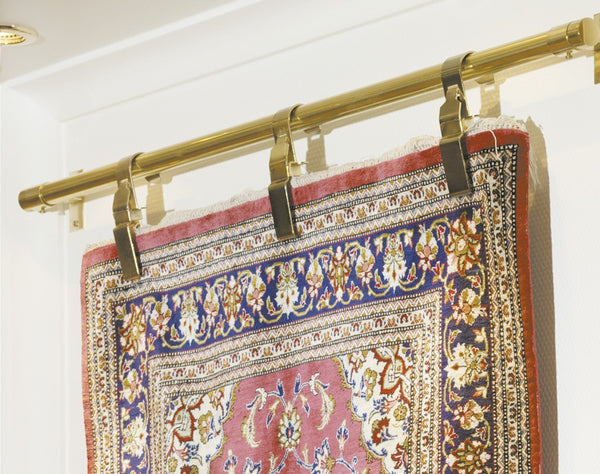 Hang Rug Clamps; Rug Clamps; Hanging An Oriental Rug