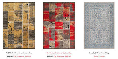 Shop our patchwork rugs!