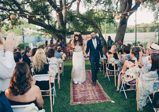 wedding aisle rug walk