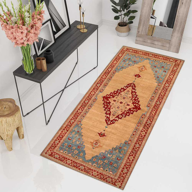 6' 11 x 13' 10 Hand-knotted Wool/Silk Afghan Ziegler Rug Tan 53683, {product_vendor}