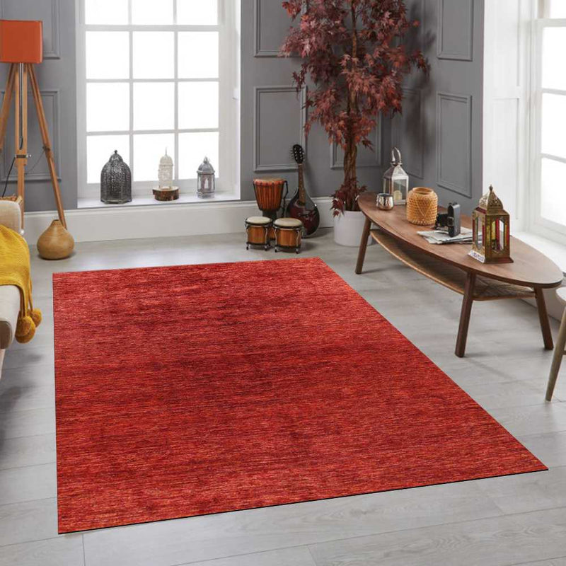 8' x 9' 9 Hand-knotted Pakistani Wool Gabbeh Carpet Tomato 56072, {product_vendor}