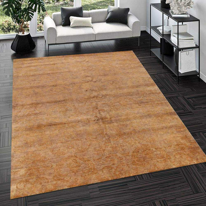 7' 11 x 10'  Hand-knotted Pakistani Wool Gabbeh Carpet Burlywood 56597, {product_vendor}