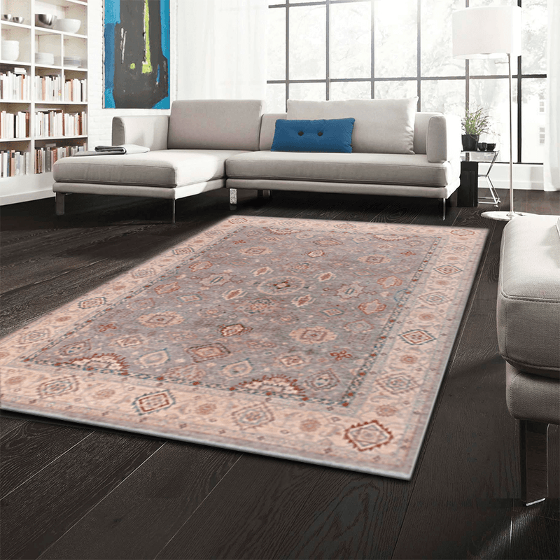 8' 11 x 11' 11 Hand-knotted Afghan Wool Oushak Rug Silver 58099, {product_vendor}