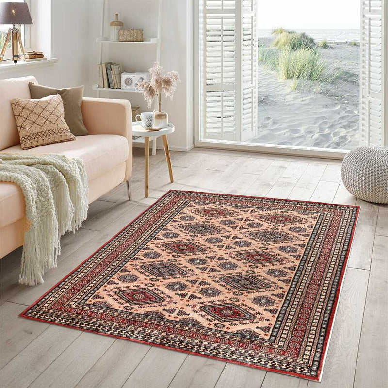 8' 2 x 11' 3 Hand-knotted Pakistani Wool Caucasian Rug Bisque 58429, {product_vendor}