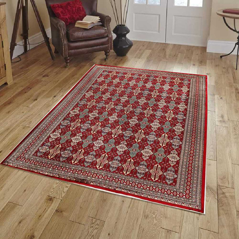 8' 4 x 11' 4  Hand-knotted Pakistani Wool Caucasian Rug Firebrick 58468, {product_vendor}