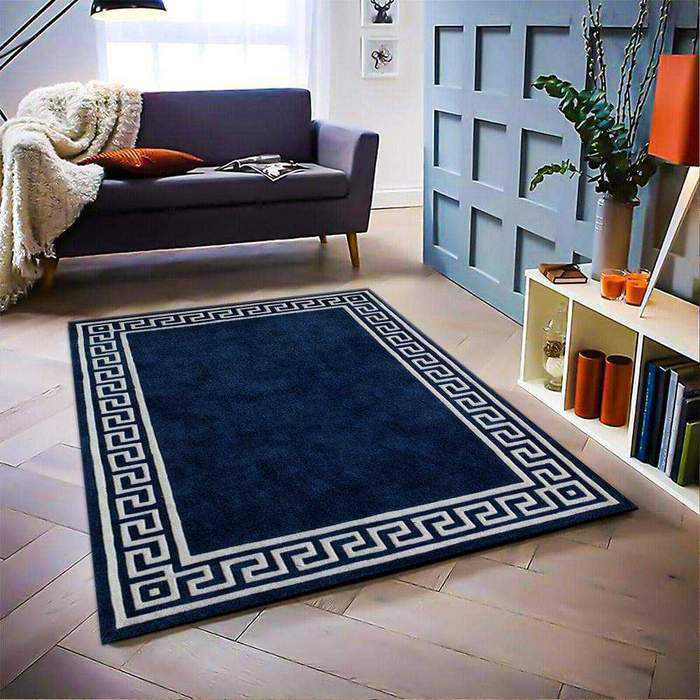 Navy Blue/Tan Bliss Rug - Multiple Sizes, {product_vendor}