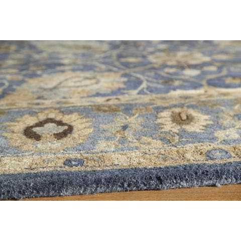 Blue Contemporary Area Rug