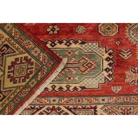 Brown Kazak Area Rug