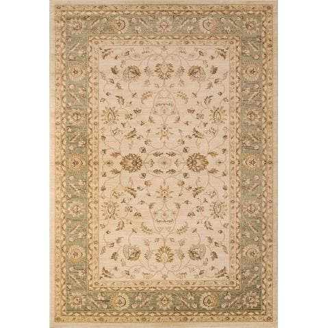 Green Boho Chic Area Rug