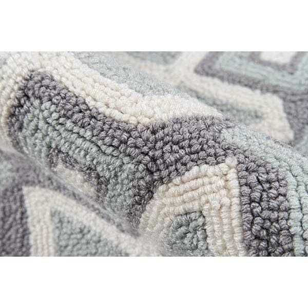 Grey Geometric Area Rug