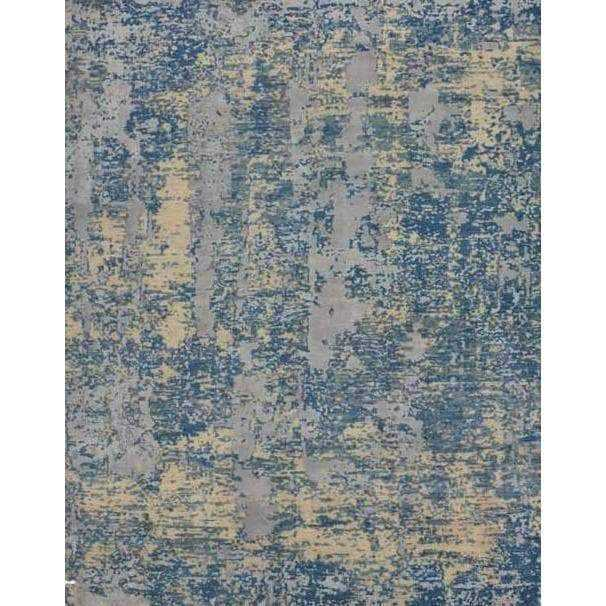 Grey Wool & Silk Area Rug