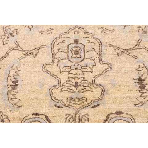 Ivory Wool & Silk Area Rug