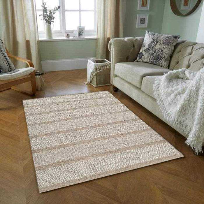 Sandy Tan/Ivory Area Rug — Multiple Sizes, {product_vendor}