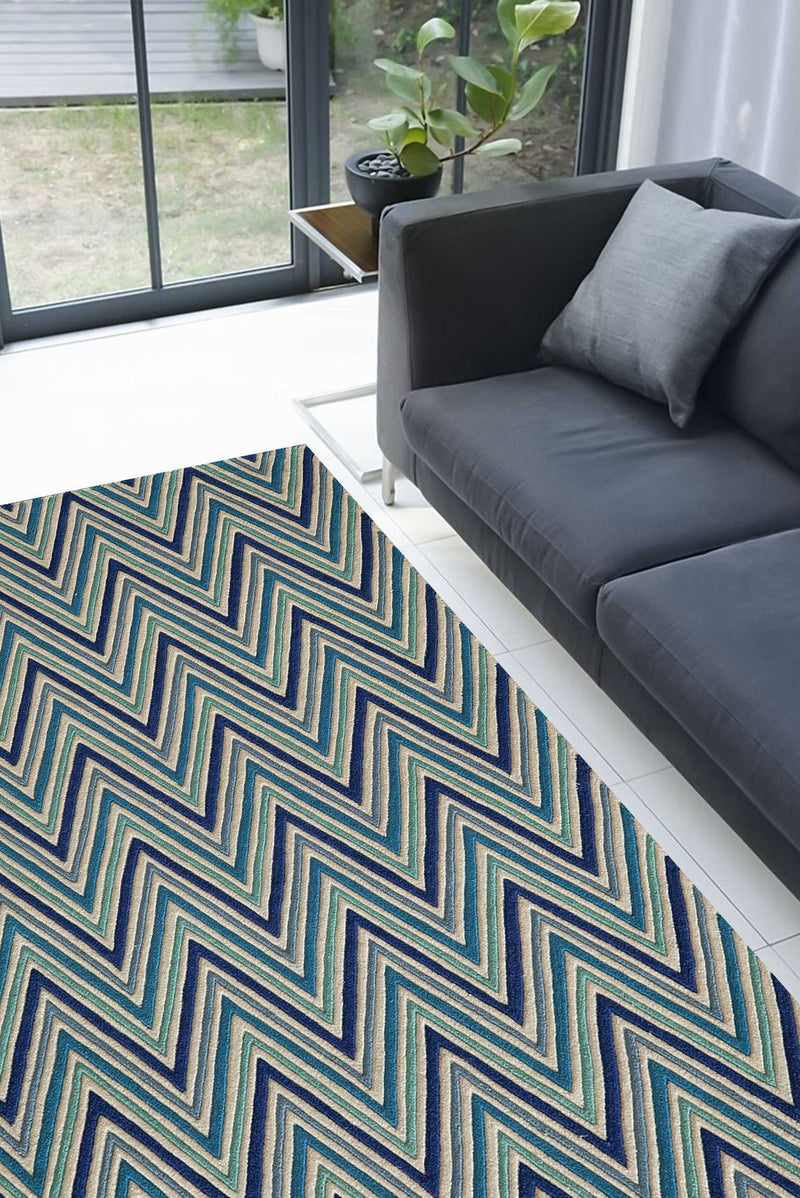 Multi-Color Transitional Area Rug