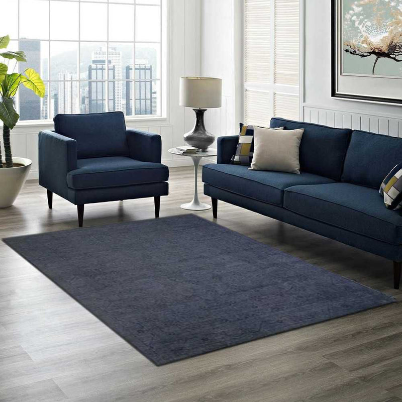 Navy Overdyed Area Rug