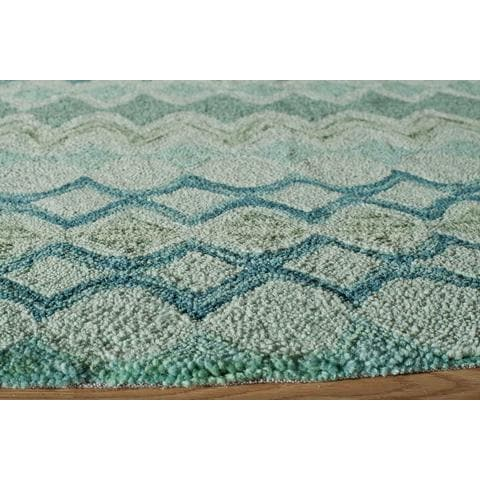 Rugknots Teal Chinese Transitional Modern Rug