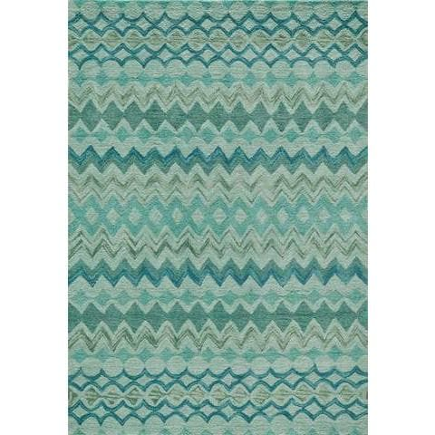 Teal Chinese Transitional Modern Rug, {product_vendor}