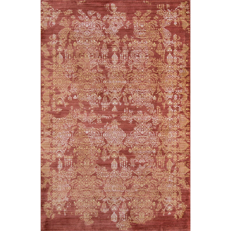 Red Boho Chic Area Rug